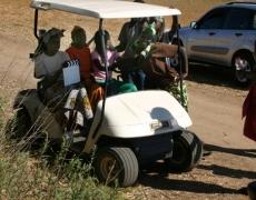 Dark Rain Golf Cart